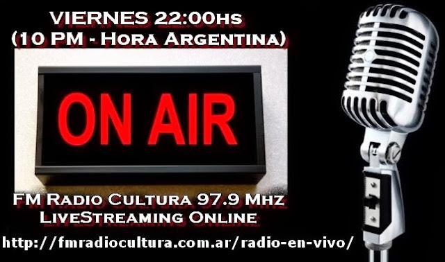 VIERNES a las 10 de la NOCHE (10 PM -Hora de Argentina)