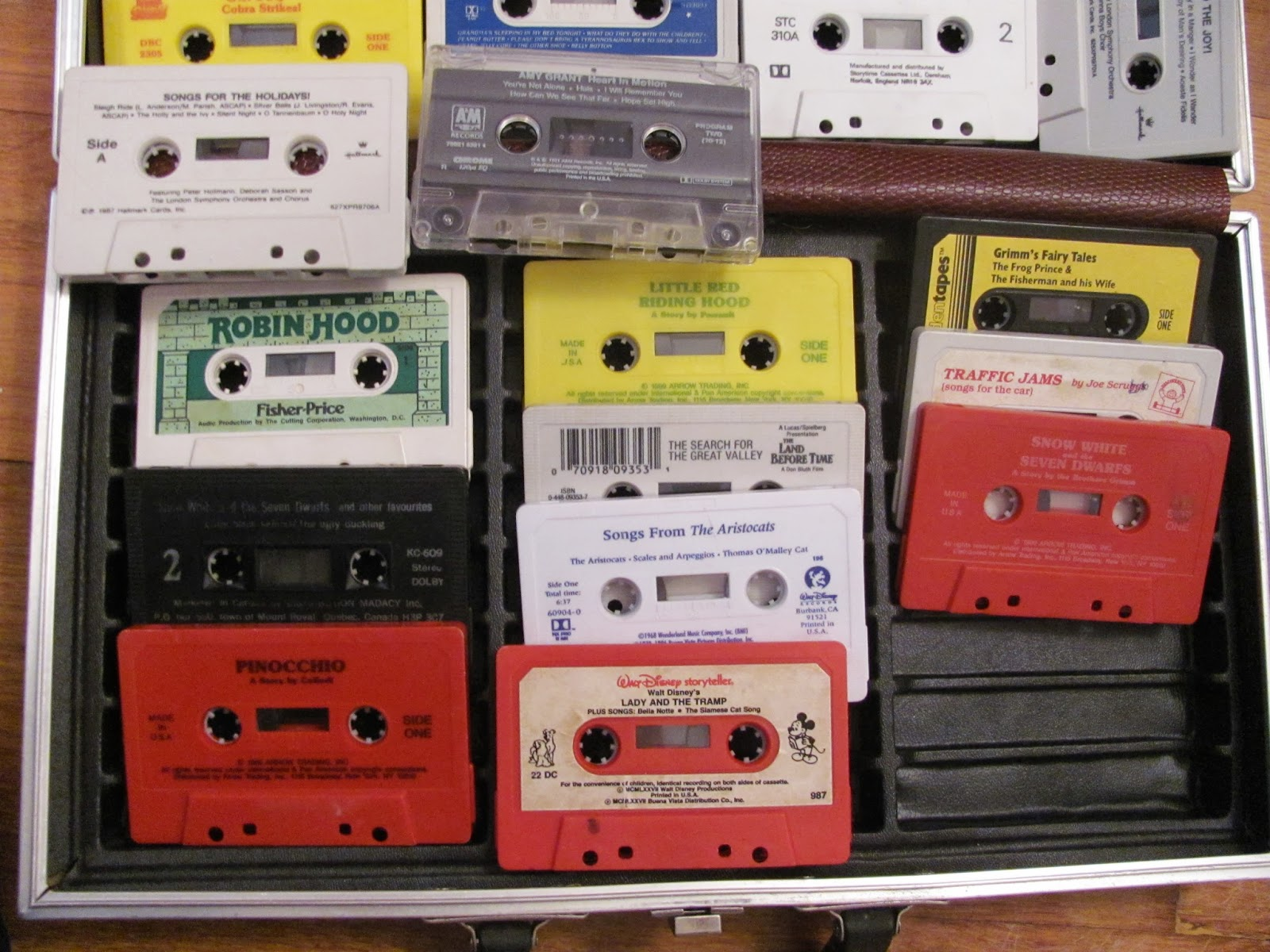Another view of the case of children's story and song tapes