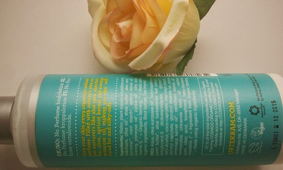 Urtekram-No-Perfume-body-lotion-with-my-rose-with-ingredients