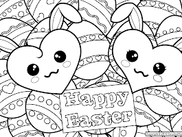 Kawaii Faces Coloring Pages
