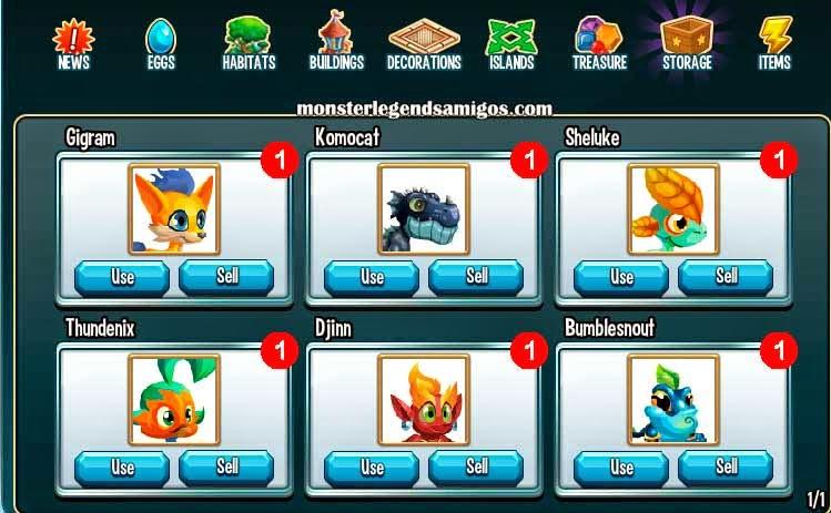 imagen del monstruo komocat en el almacen de monster legends