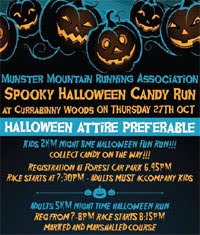 5k run in Currabinny Woods nr Ringaskiddy...Thurs 27th Oct