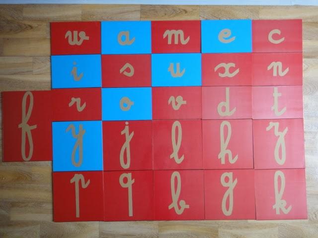 Beliebt Aux Couleurs de Montessori: Les lettres rugueuses VG14
