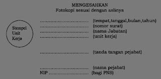 Format Pengesahan Fotokopi Ijazah/STTB