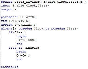 My FPGAs: CLOCK DIVIDER