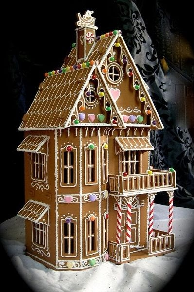 This Gingerbread House Is Beautiful, It Reminds Me Of A Doll House.