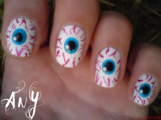as unhas decoradas Halloween Nail Art