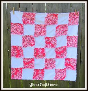 http://ginascraftcorner.blogspot.com/2013/06/sweet-girly-rag-quilt.html