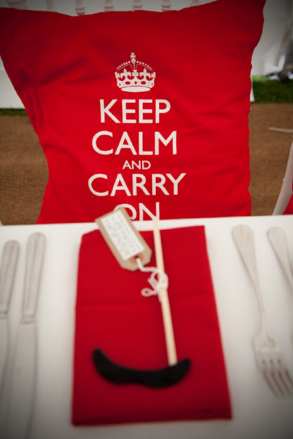 Red Theme Wedding Table Accessories