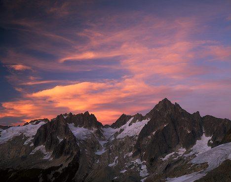Snow Mountain Sunset Wallpapers