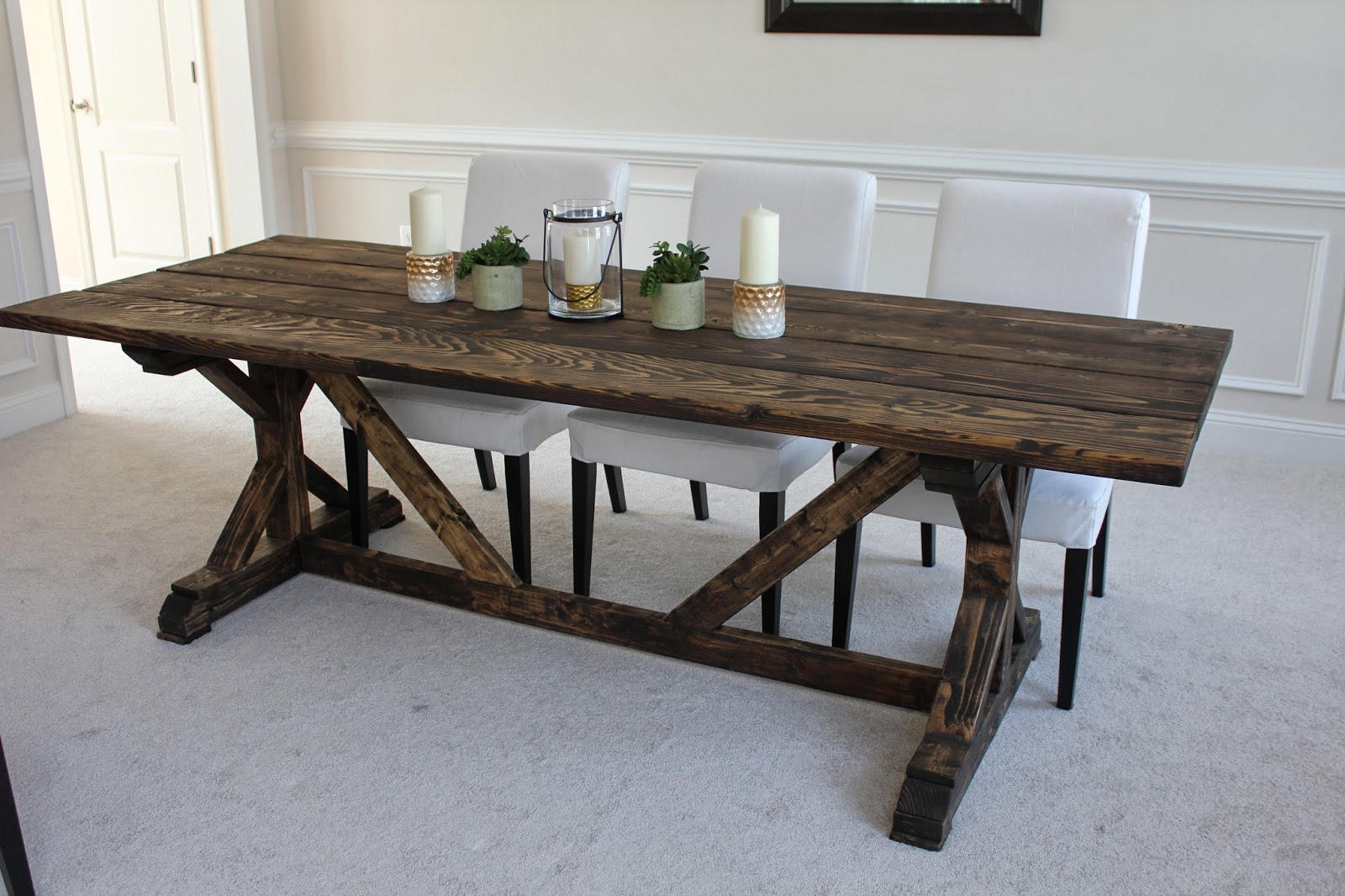 Easy diy remodel projects floor stain farmhouse style for Breakfast table plans