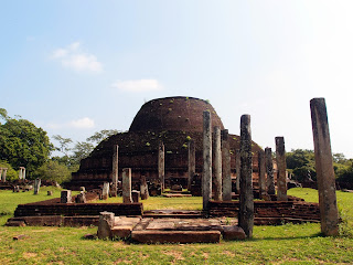 It's all about the ruins in Polonnaruwa.
