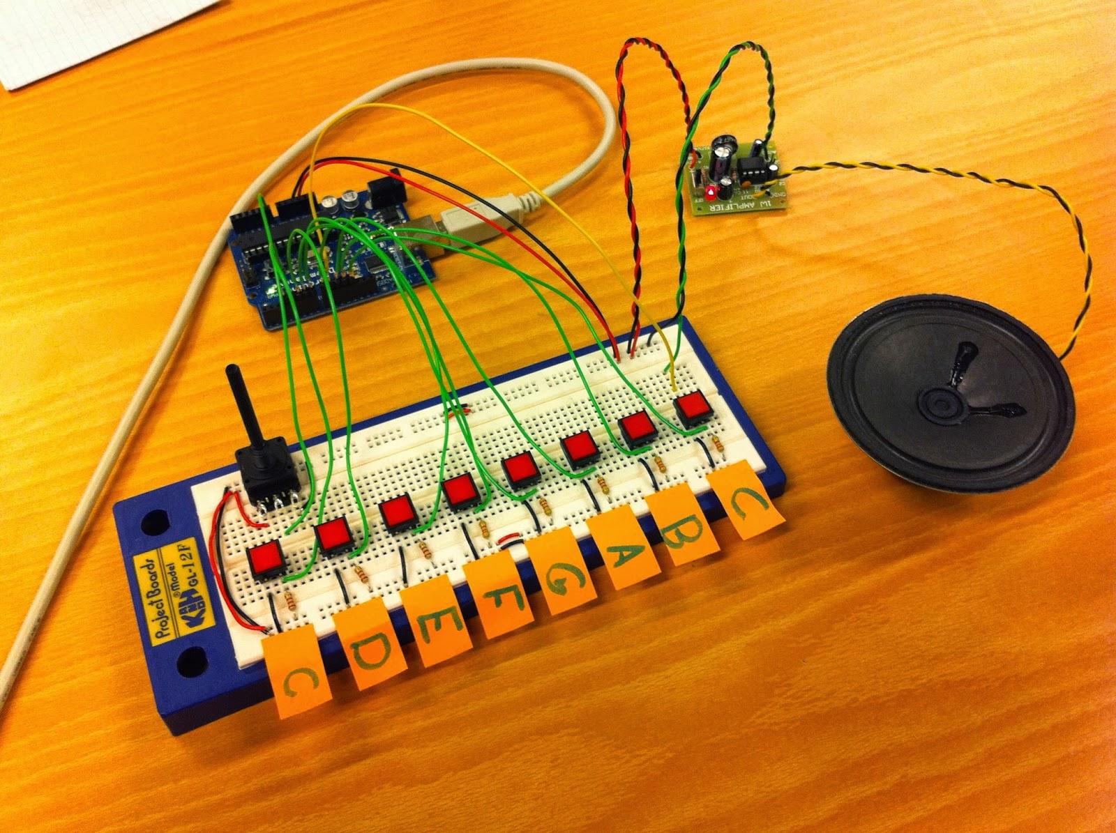 Tutorial Making Piano Keyboard With Lm555 Ic 555 Digital Temperature Sensor Header Circuit 555circuit Lm