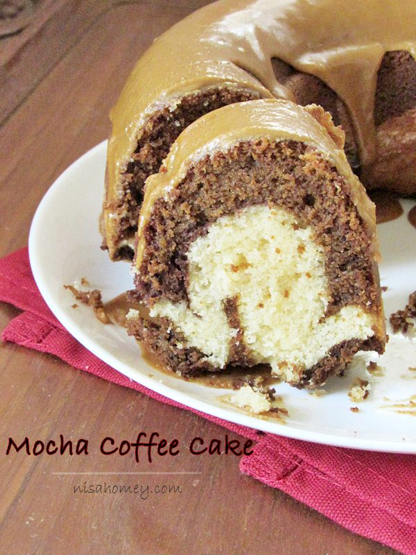 Mocha coffee coffee cake (or) coffee, chocolate, and vanilla marble ...