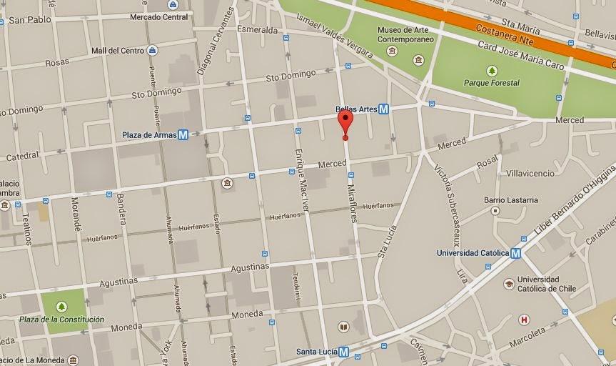Mapa ubicación Restaurante El Cordobés Santiago