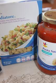 Pasta and Marinara Sauce