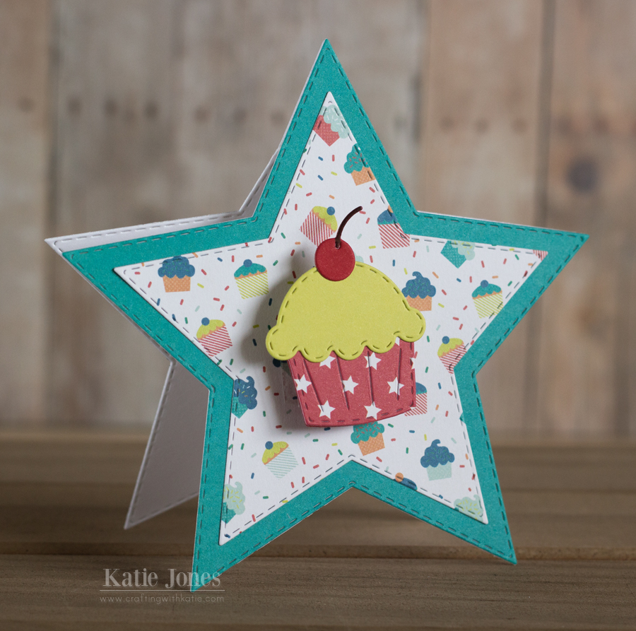 Crafting with katie wobble cupcake birthday card happy summer to me today is my last day of school yay here is a card i made for one of my students who has a summer birthday bookmarktalkfo Choice Image