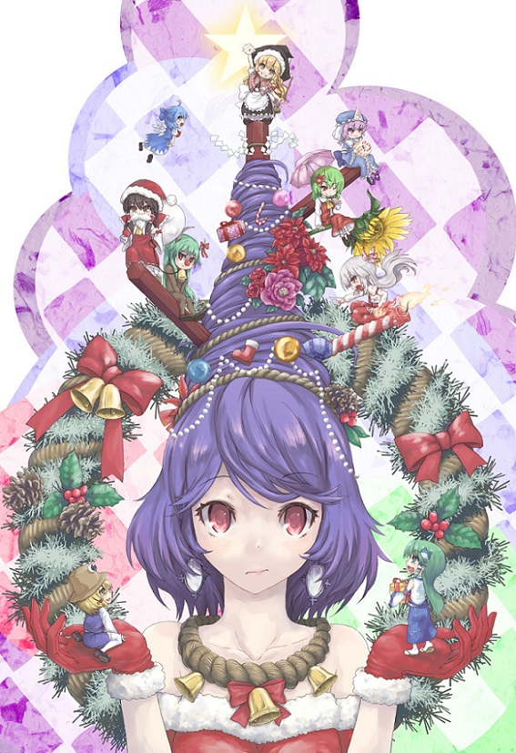 anime Christmas tree, anime Christmas, chibi Christmas
