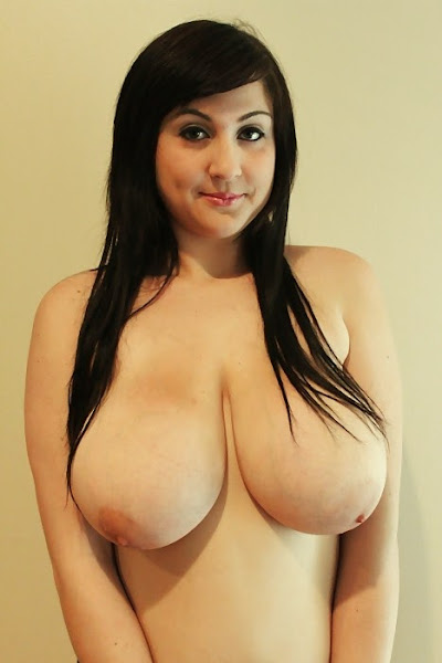 smiling girl with big droopy boobs