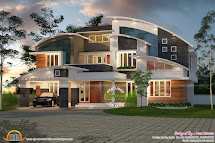 Curved Roof House Designs Kerala