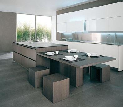 Decora y disena 10 fotos de cocinas de madera modernas for Cocina moderna madera