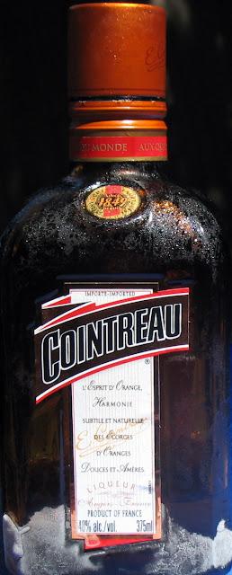 An ice cold bottle of Cointreau Liqueur