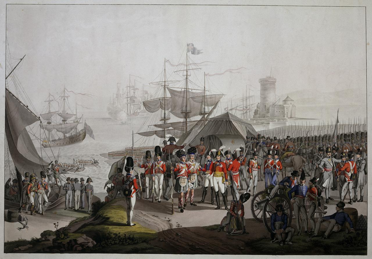 Wellington landing at Lisbon in 1809