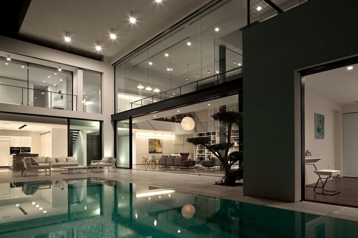Modern bauhaus mansion in israel architectures roman for Swimmingpool bauhaus