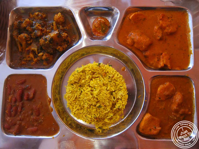 image of meat thali at Hoboken Dhaba, New Jersey NJ