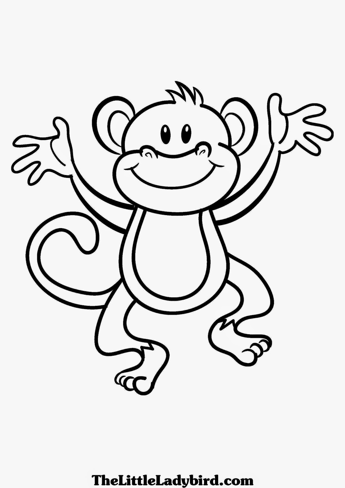 Cute Coloring Pages of Baby Monkeys Cute Baby Monkey Coloring Free