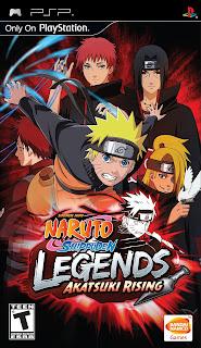 Naruto Shippūden: Legends: Akatsuki Rising PSP GAME