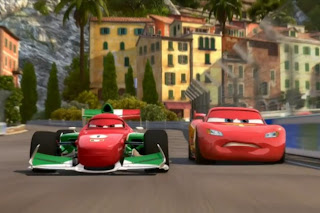 Lightning McQueen and Francesco Bernoulli in Cars 2 movieloversreviews.blogspot.com