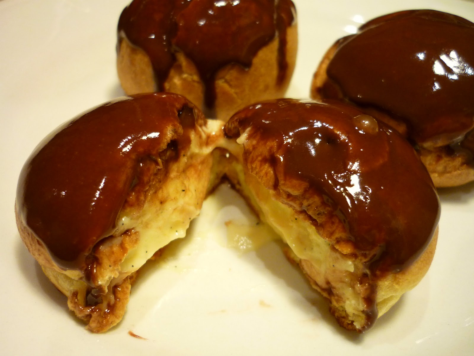 This is my first time making Profiteroles I followed Pierre Herme´s ...