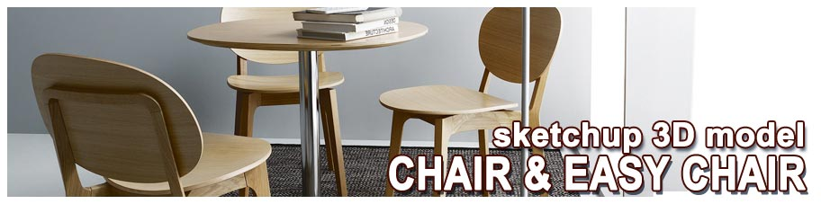 sketchup model chair and easy chair