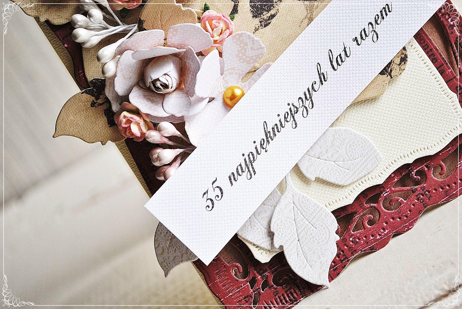 kartka na rocznicę ślubu scrapbooking