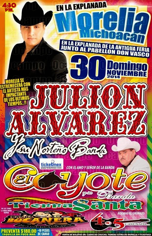 boletos baile julion alvarez morelia 30 de noviembre