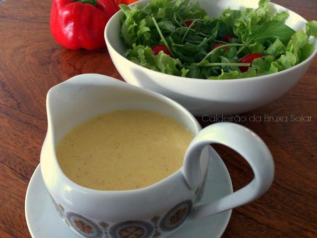 Molho cremoso para saladas com um toque de curry