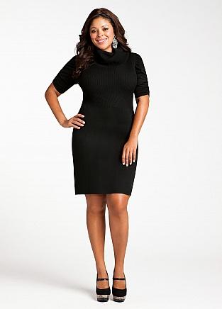 Plus Size Turtleneck Dress – Fashion dresses