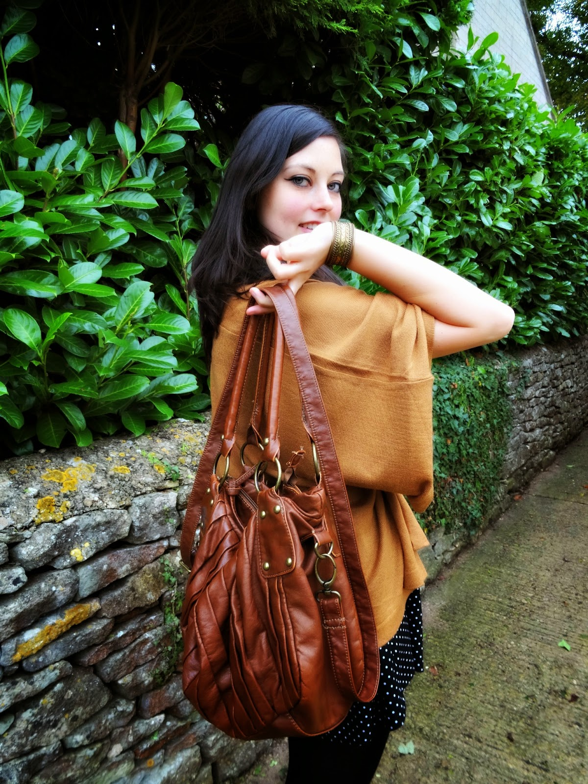 Autumn fashion post in the cotswolds Shades of brown
