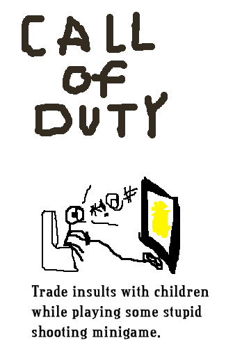 Call of Duty: Trade insults with children while playing some stupid shooting minigame.
