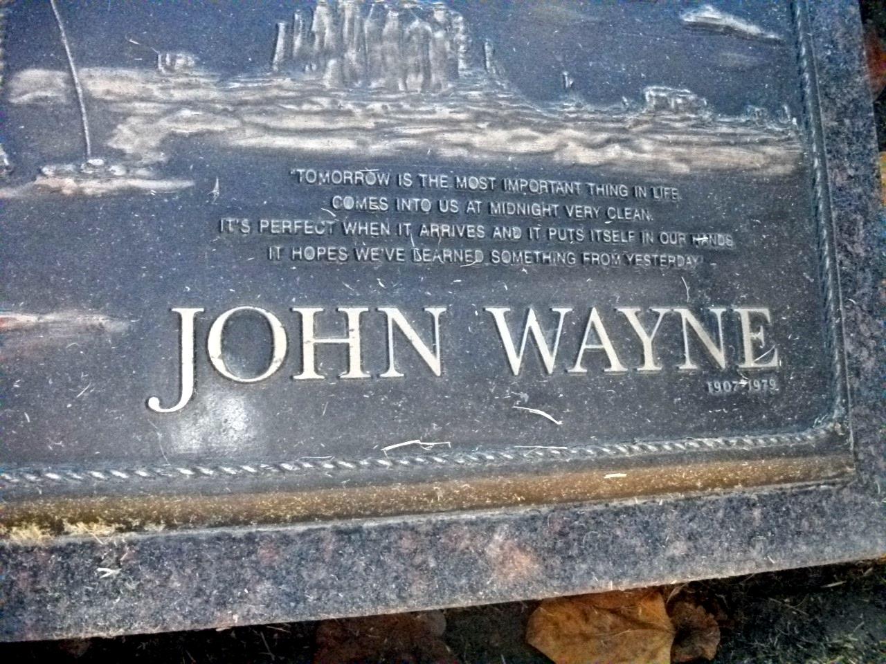 Celebrity Gravesites John Wayne