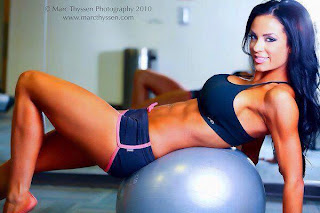 Beautiful Fitness Diva Abbie Burrows