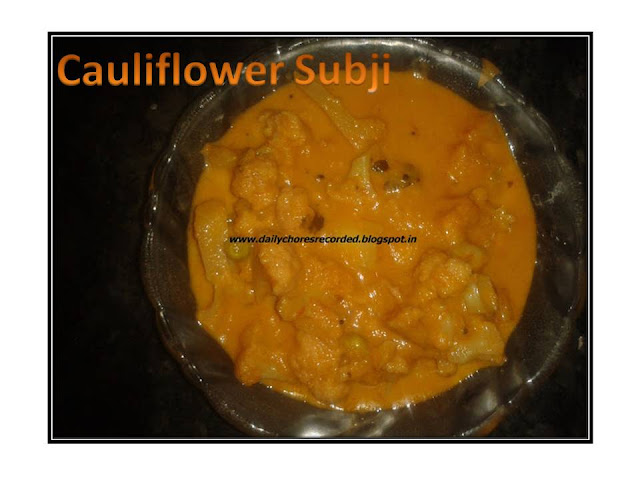 Cauliflower Subji