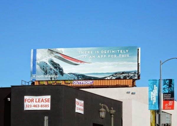 Lake Tahoe definitely not an app for this billboard