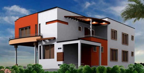 Front Elevation Design In Coimbatore : D front elevation marla plan layout small house