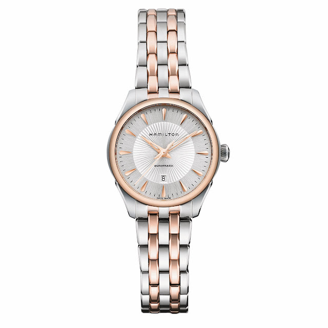 Hamilton Jazzmaster Lady Auto Watch silver gold