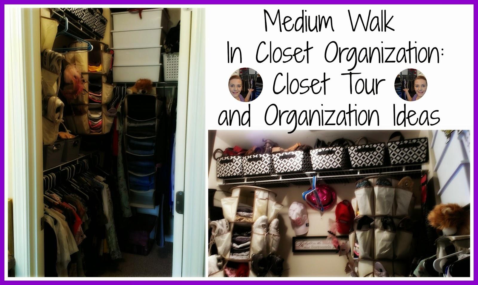 Medium Walk In Closet Organization: Closet Tour and Organization Ideas |  VIDEO |