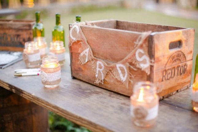 Rustic Crate Wedding Card Box