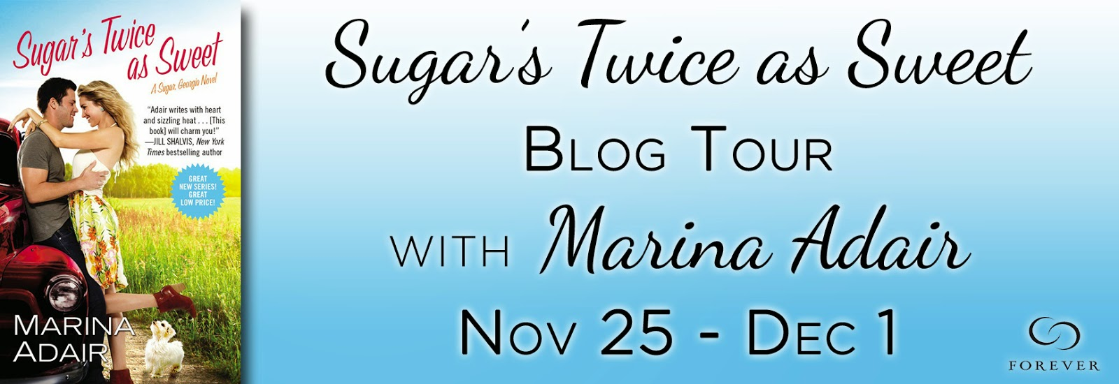 Blog Tour: Book Spotlight + Top 5 List + Giveaway – Sugar's Twice as Sweet by Marina Adair