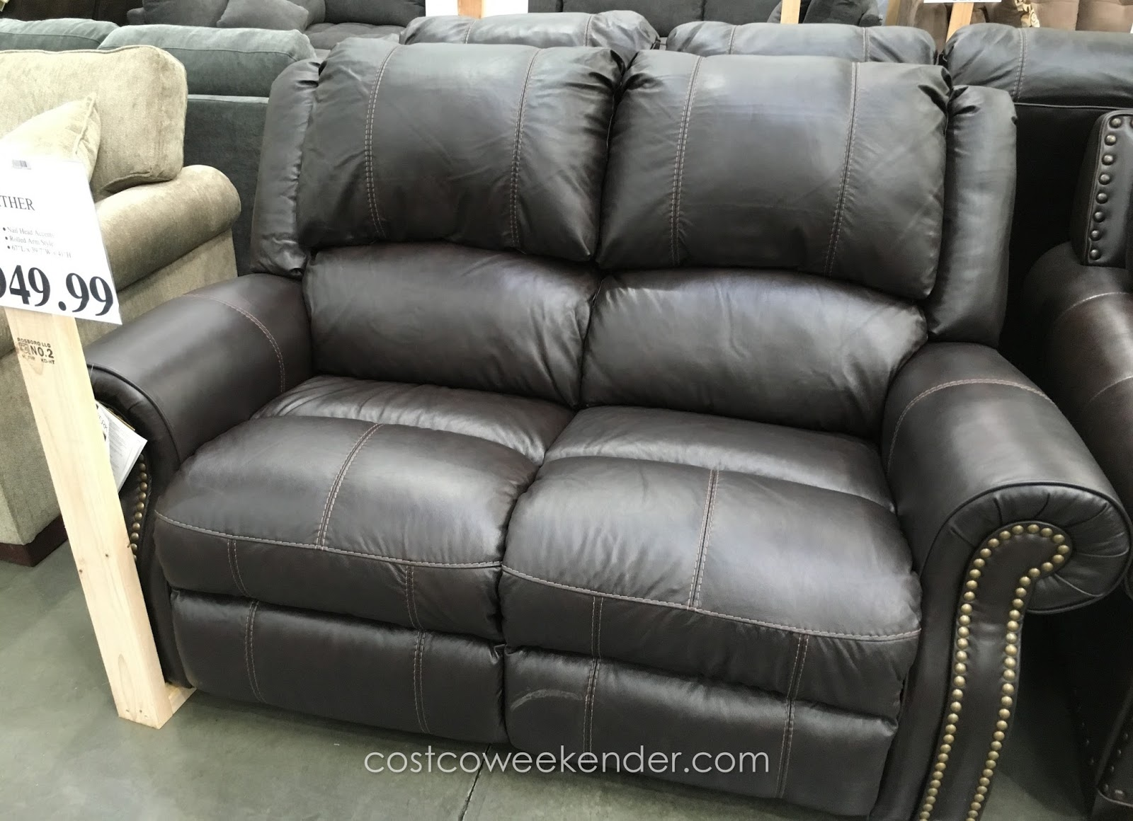 Berkline Reclining Leather Loveseat Costco Weekender